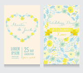 Floral wedding invitations — Stock Vector