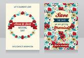 Floral wedding cards — Διανυσματικό Αρχείο