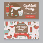 Template for cocktail party in retro style — Stock Vector