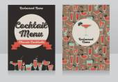 Cocktails menu template — Stock Vector