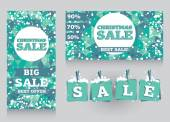 Set of banners and decorative elements for christmas sales — Wektor stockowy