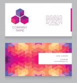 Geometrical business card template — Stock Vector