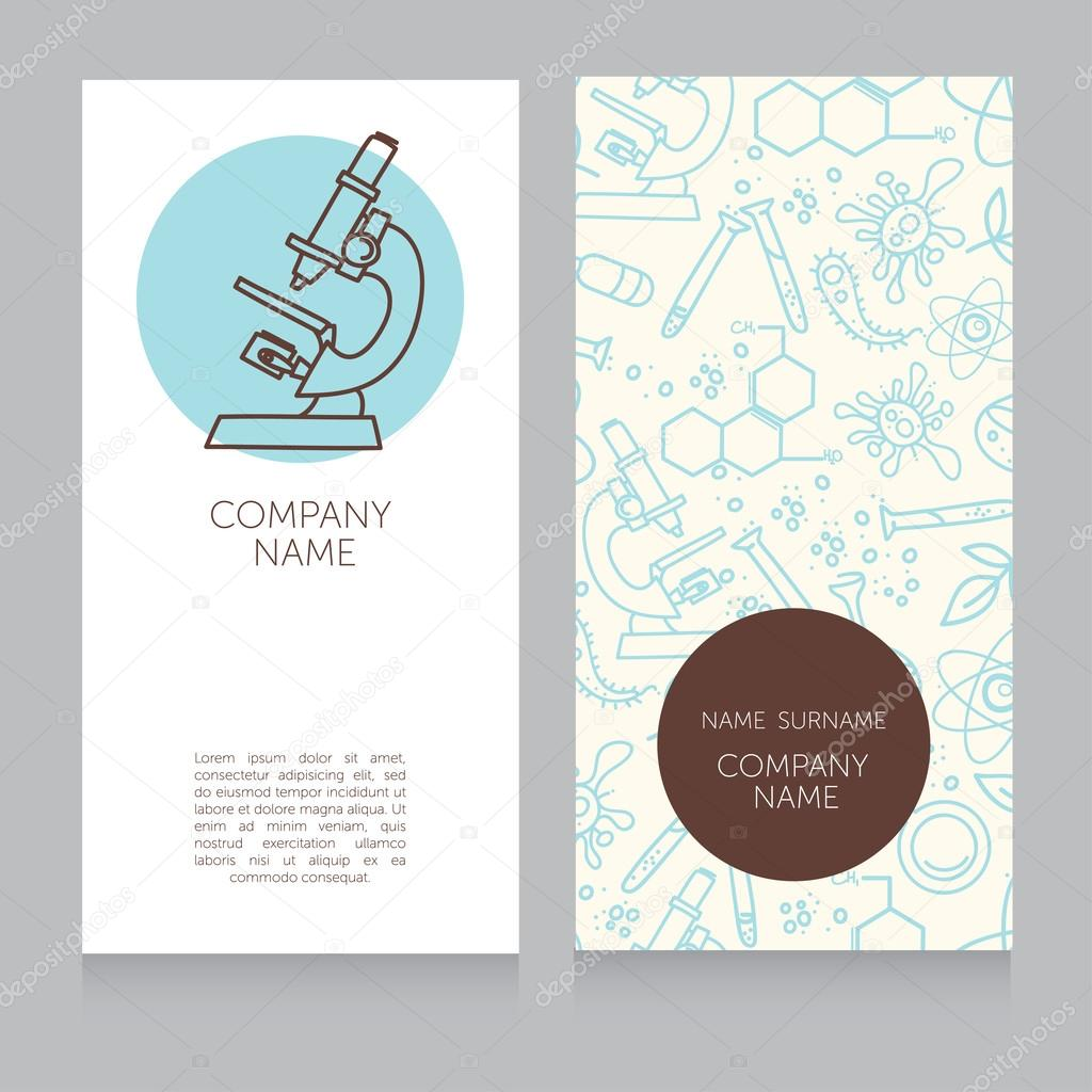 Business cards template for medical or science lab Vector – Business Card Template for Doctors