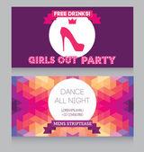 Ladies night party flyer — Stock Vector