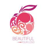 Beautiful logo template — Stock Vector