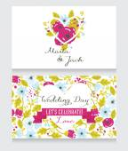 Beautiful floral wedding invitation — Vetorial Stock