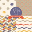 Set of abstract seamless patterns — Stock Vector #63865019