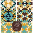 Set of abstract seamless patterns,  boho palette — Stock Vector #64488933