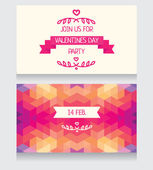 Greeting cards for valentine's day — Stock Vector