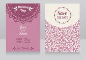 Templates for beautiful wedding cards — Vecteur