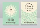 Templates for beautiful wedding cards — Stock Vector