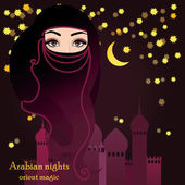 Arabian woman in muslim veil — Stock Vector