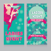 Invitation template for ladies night party — Vector de stock