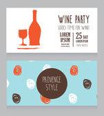 Wine party invitation — Stock Vector