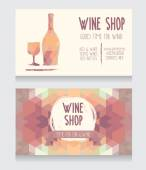 Template for wine shop business card — Stock Vector