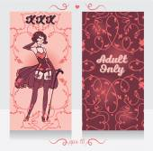 Two cards in burlesque style — Stock vektor