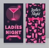 Template for Ladies night party flyer — Stock Vector