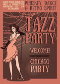 Chicago party poster — Stock Vector
