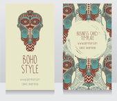 Duas cartas para estilo étnico — Vetor de Stock