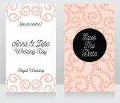 Two floral wedding cards — Stock Vector