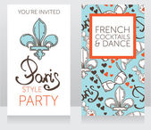Template for french style party — Stock Vector