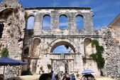 Tourists visiting city of Split, Croatia — Stock Photo