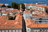 Aerial view of Zadar city, Croatia — Stock Photo