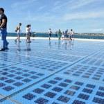Greeting to the sun - solar panel sculpture in Zadar, Croatia — Stock Photo #53982529