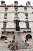 The statue of Marko Marulic in Split, Croatia — Stock Photo