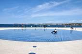 Greeting to the sun - solar panel sculpture in Zadar, Croatia — Stock fotografie