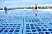 Greeting to the sun - solar panel sculpture in Zadar, Croatia — Stock Photo