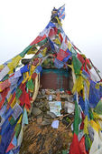 The memorial of Russian climber Anatoli Boukreev in the Annapurn — Stock Photo