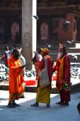 Holy sadhu men in Kathmandu, Nepal — Stock Photo