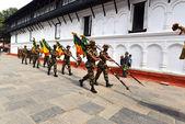 Nepali soldiers — Stock Photo