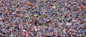 Crowd of people background — Stock Photo