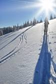 Back country skier (ski touring) — Stock fotografie