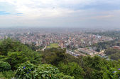 View of Kathmandu city from Swayambhunath temple — Stock Photo