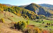 Colorful autumn forest mountain landscape — Zdjęcie stockowe