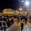 Time lapse of 15.000 people protesting against the Romanian Presidential candidate Victor Pont — Stock Video #58131333