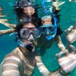 Couple snorkeling in Maldives — Stock Photo #63045357
