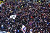 Stadium full with football fans — Stock Photo