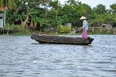 Mekong delta, Cai Rang Floating market, Vietnam — Stock Photo