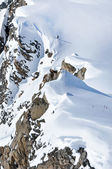 Off-piste slope in the Alps — Stock Photo