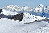 Skiing resort in the Alps. Austria — Stock Photo