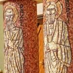 Saint Paul and Saint Andrew mosaic on a Greek Catholic church co — Stock Photo #64239825