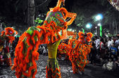 Dragon dance during the Tet Lunar New Year in Vietnam — Stockfoto