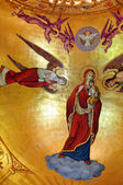 Paintings in a Greek Catholic church in Romania — Stock Photo