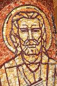 Mosaic of Saint Mark apostle on a column  — Stock Photo