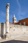 Roman column in the ancient city of Zadar, Croatia — Stok fotoğraf