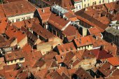 City rooftops of Brasov, Romania — Stock Photo